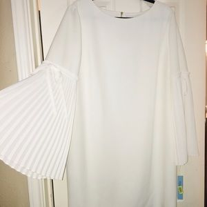 Winter white dress, polyester